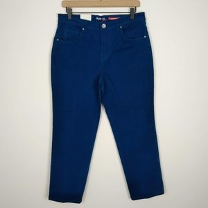 NWT Style & Co Green Blue Natural Fit Jeans